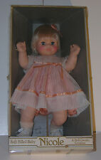 "Vintage UNEEDA Doll Classic Creation NICOLE Soft Filled Baby Girl Doll 22"" Tall"