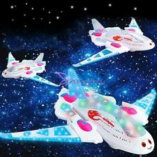 White New Aeroplane Flashing Light &Music Electric Toy Aircraft Plane for Kids
