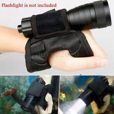 Scuba Dive Glove Torch Hand Free Light Holder Handmount Underwater Flashlight