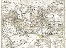 Genuine 172 years old map the Caliphate al Jazeera in 1844