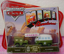 PIXAR CARS Mini Adventures Sarge's Boot Camp✰SARGE & FILLMORE✰Army Green✰nip