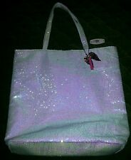 (VS Collector)Victoria's Secret White Sparkle Sequin Angel Dream Tote (1pc only)
