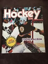 1983 Vintage Topps NHL Hockey 1983/84 Sticker Album with Some Stickers