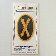 CIVIL WAR UNION ARMY US ARTILLERY CROSSED CANNONS Embossed Sew On PATCH New