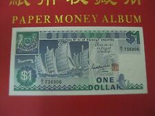 $1 Dollar Singapore - Ship series Prefix B/3 (UNC)