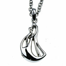 """Couple Figure Memorial Cremation Jewelry Urn Necklace for Ash on 24"""" Chain"""