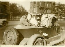 """Albert BOITARD au 4ème RALLYE-RADIO 1931"" Photo originale G. DEVRED (Agce ROL)"