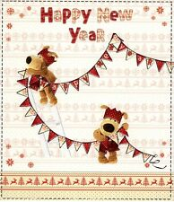 Boofle Happy New Year Greeting Card Cute Range Christmas Greetings Cards