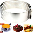 Adjustable Circle Round Mousse Cake Ring Cutter Mold Stainless Baking Tool Hot