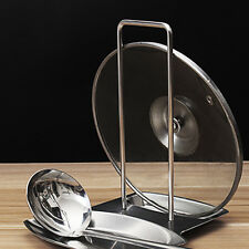 Stainless Steel Pan Pot Cover Lid Rack Stand Spoon Holder Organizer Storage New