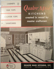 Vtg  QUAKER MAID Kitchen Cabinet Guide Catalog RETRO Wood Crafted Cabinets 1958