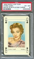 1959 Maple Leaf Gum Playing Card VIVIEN LEIGH Gone With the Wind Actress PSA 6