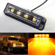 High Power 4 LED Waterproof Car Emergency Strobe Flash Side Marker Light Amber