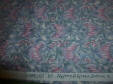 100% Cotton Fabric Hoffman  Camelot Pink Gray Abstract Floral 3 YDS Quilt Sew