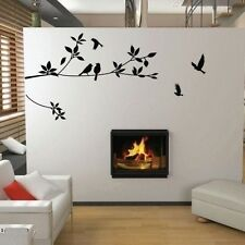 Asmi Collections Pvc Wall Stickers Black Tree Branches and Birds
