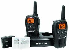 MIdland LXT500VP3 Two Way Radio Walkie Talkie Set 24 Mile Range22 Channel GMRS