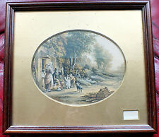 "Wooden framed Oval print "" The Pedlar "" by Abraham Le Blond"