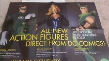 DC DIRECT 1999 GREEN LANTERN/GREEN ARROW/BLACK CANARY ACTION FIGURE PROMO POSTER