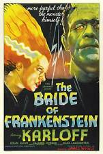 """THE BRIDE OF FRANKENSTEIN"" Movie Poster [Licensed-NEW-USA] 27x40"" Theater Size"