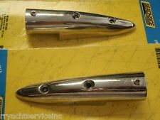 BOW RAIL FITTINGS PAIR END FITTING  7/8 TUBE 316 S/S 50-38471  BOAT STAINLESS