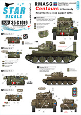 Star Decals 35-C1019, Decals: RMASG Centaurs - Royal Marines tanks in Normandy