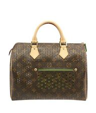 Louis Vuitton Speedy 30 Perforated Monogram Coated Canvas Satchel
