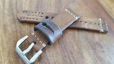 Ammo Strap 22mm Schweizer Leder Militärtasche 1936 Uhrenarmband Vintage Rarität