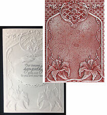 TIGER LILIES  Spellbinders 3D embossing folders E3D-015 Cuttlebug Compatible