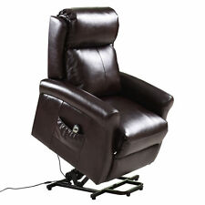 Electric Power Lift Chair Recliners Chair Remote Living Room Furniture Brown New