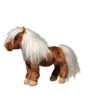 "TINY Douglas Cuddle SHETLAND PONY 11"" STUFFED HORSE brown plush toy animal"