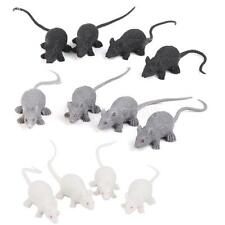12 Plastic Rats Mouse Scary Creature Halloween Party Pranks Toy Trick Props