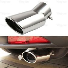 2Pcs Silver Exhaust Muffler Tail Pipe Tip Tailpipe for Honda CRV CR-V 2017