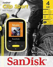 SanDisk Sansa Clip Sport  4 GB MP3 Player FM Radio   SD Slot -Yellow