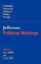 Jefferson: Political Writings (Cambridge Texts in the History of Political Thou