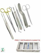 Dentist's Basic Surgery Kit Buser Periosteal Elevators Crilewood Scalpel Handle