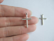 20 Tibetan Silver Tone Cross Crucifix Charms Pendants For Jewellery Craft Making