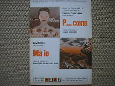 FABIO CONCATO P...COME DIMOPOLI MA IO 1978 SPARTITO SHEET MUSIC
