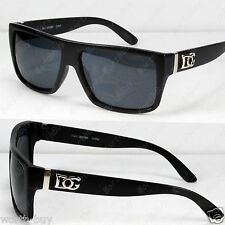 New DG Eyewear Mens Square Black Sunglasses Shades Designer Retro Fashion Wrap