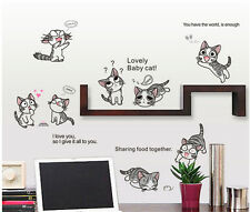 Cute Chi's Sweet Home Chi Cat Wall Sticker Kawaii Cartoon Kitty Cat Vinyl Decal