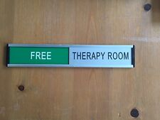 Sliding Door Sign - Engraved with Your Own Text - Colour Choices