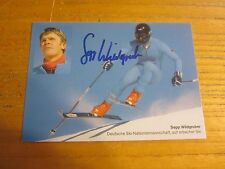 Sepp Wildgruber Autographed/Signed 4X5.75 Photograph German Alpine Skier