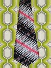 A271✪ original 70er Jahre Kult Retro Krawatte Hippie Muster grün / beige