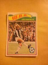 WEST BROMWICH ALBION FOOTBALL CLUB 1978 TOPPS CARD LEN CANTELLO # 63 VGC