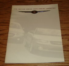 Original 1998 Chrysler Sebring Coupe & Convertible Deluxe Sales Brochure 98