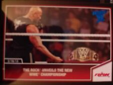 2013 Topps Best of WWE #91 The Rock Unveils WWE Championship BLUE Parallel
