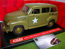 CHEVROLET CARRYALL SUBURBAN 1950 ARMY 1/18 MIRA 6244 voiture miniature collectio