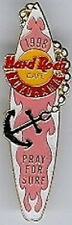Hard Rock Cafe YOKOHAMA 1998 Pray for Surf SURFBOARD PIN with Anchor HRC #10593