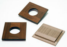 1 LENS BOARD 76mm x 84mm - FOR SEAGULL Camera, Made of Walnut, undrilled, or#0,