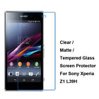 New Tempered Glass / Clear / Matte Screen Protector Film For Sony Xperia Z1 L39H