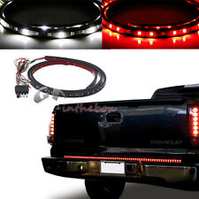 "60"" Trunk Tailgate Red White LED Light Bar For Reverse Brake Turn Signal Tail"